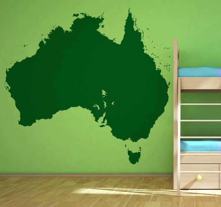 Vinilo silueta mapa Oceania