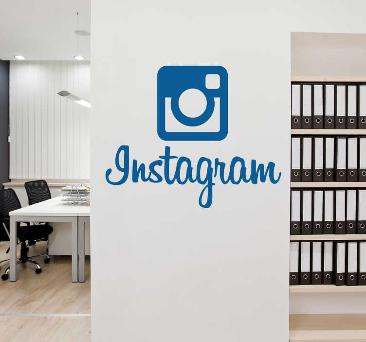 TenVinilo. Adhesivo logo instagram. Hazte con el adhesivo decorativo de la red social fotográfica por excelencia. Configura el color que más deseas para el logotipo, personaliza tu hogar o tu negocio si eres amante de la fotografía.