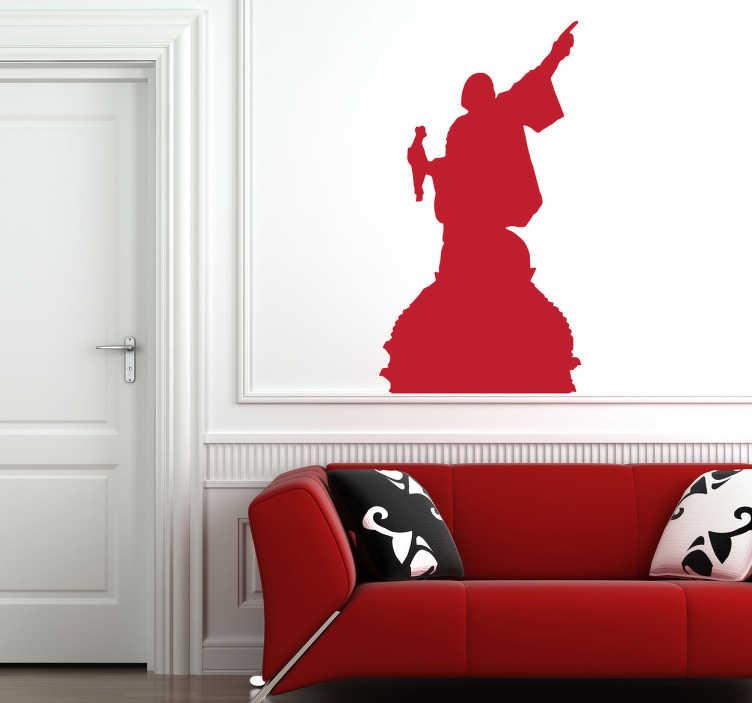 Naklejka dekoracyjna sylwetka Krzysztofa Kolumba