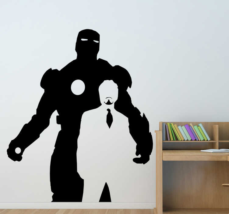 Vinilo decorativo iron man