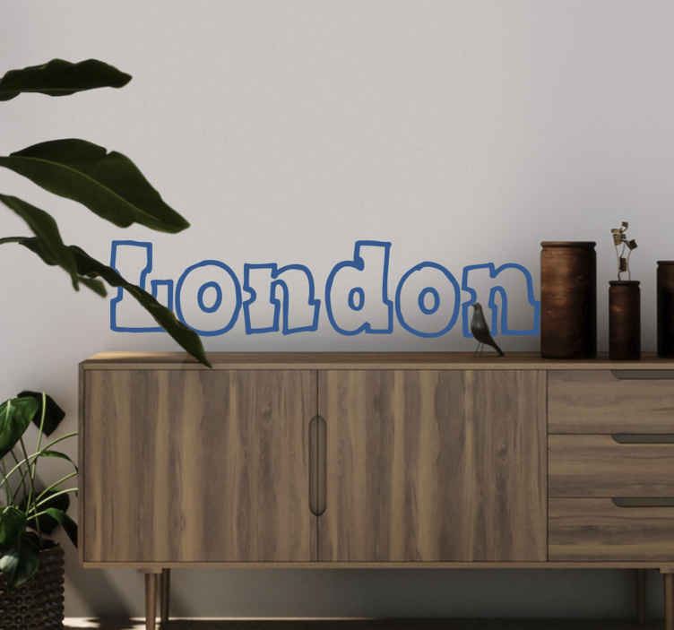 TenStickers. London Wall Sticker. Room Sticker - Typeface design - London, the captial of the United Kingdom, England. Decals ideal for decorating your home.