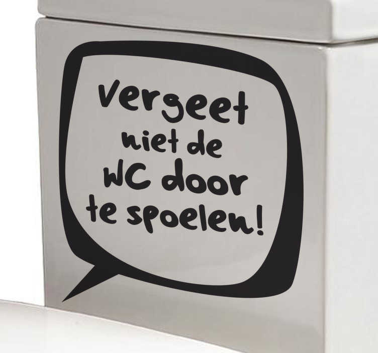 Sticker badkamer WC doorspoelen - TenStickers