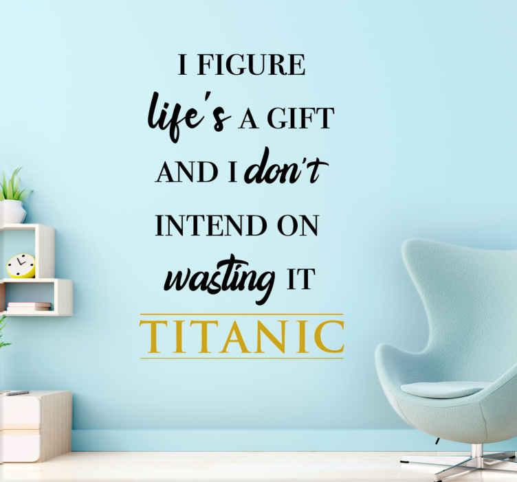 Image of Sticker film Citazione motivazionale del film titanic