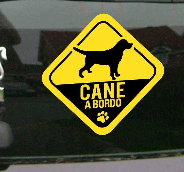 Sticker decorativo cane a bordo 2