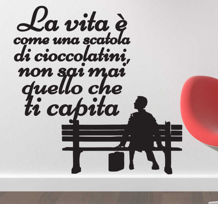 Sticker decorativo frase Forrest Gump