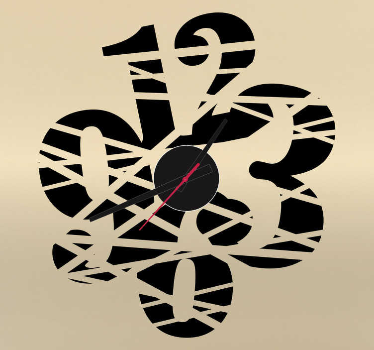 Numeri adesivi tagliati orologio