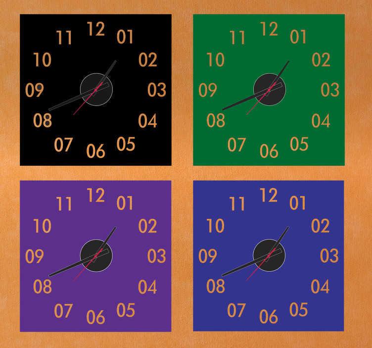 Naklejka kwadratowy zegar