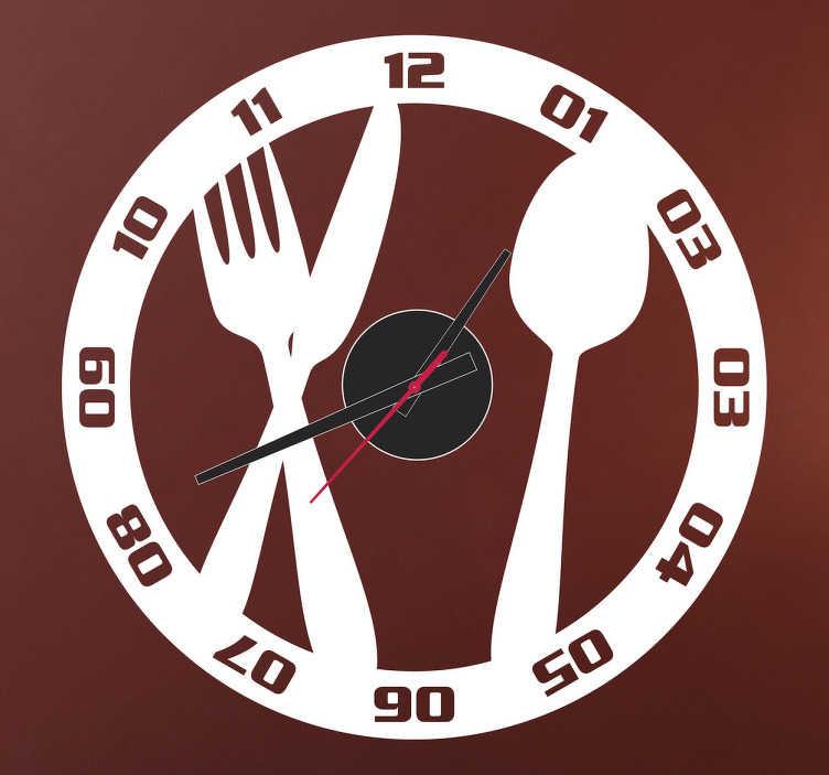 Muurstickers Keuken Bestek : Clock Sticker