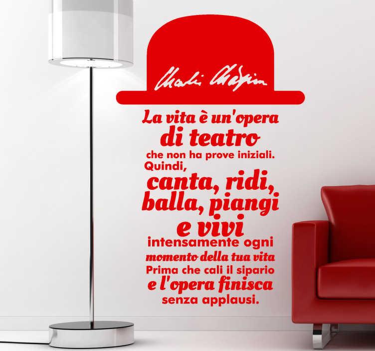 Sticker decorativo testo Chaplin