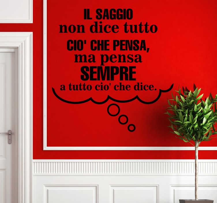Sticker decorativo frase Aristotele