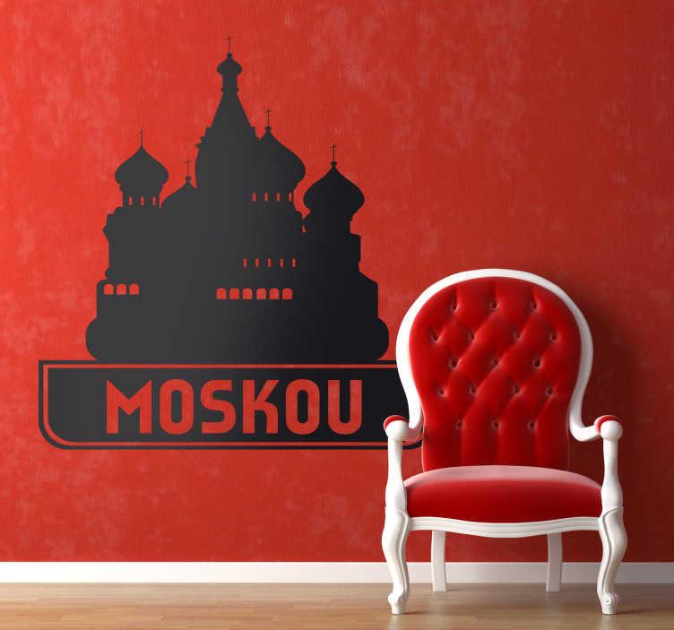 TenStickers. Sticker kathedraal Moskou. Muursticker van deze prachtige kathedraal in Rusland. Decoreer uw woning met deze wandsticker van de blikvanger van het rode plein in Moskou.