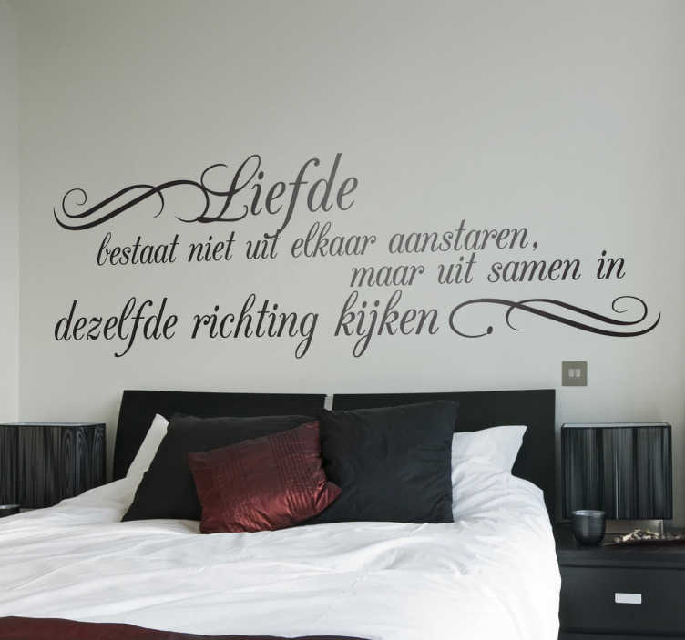 Tekst Stickers Muur.Sticker Decoratie Tekst Exupery Liefde Tenstickers