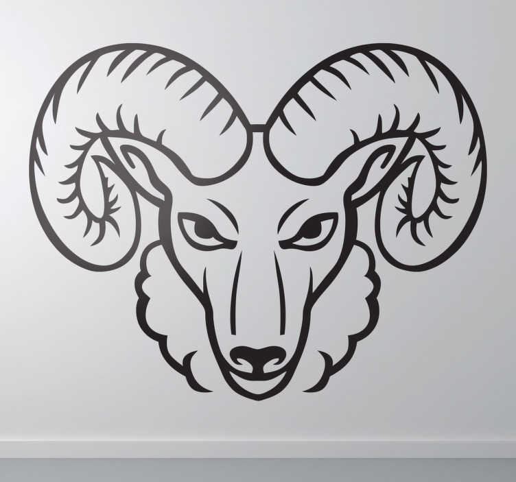 wandtattoo sternzeichen steinbock tenstickers. Black Bedroom Furniture Sets. Home Design Ideas