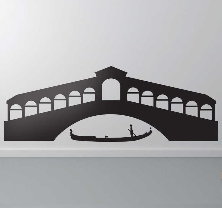 TenStickers. Venice Gondola Silhouette Decal. Decals - Inspired by the Italian city of Venice where there are no cars or roadways, just canals and boats.