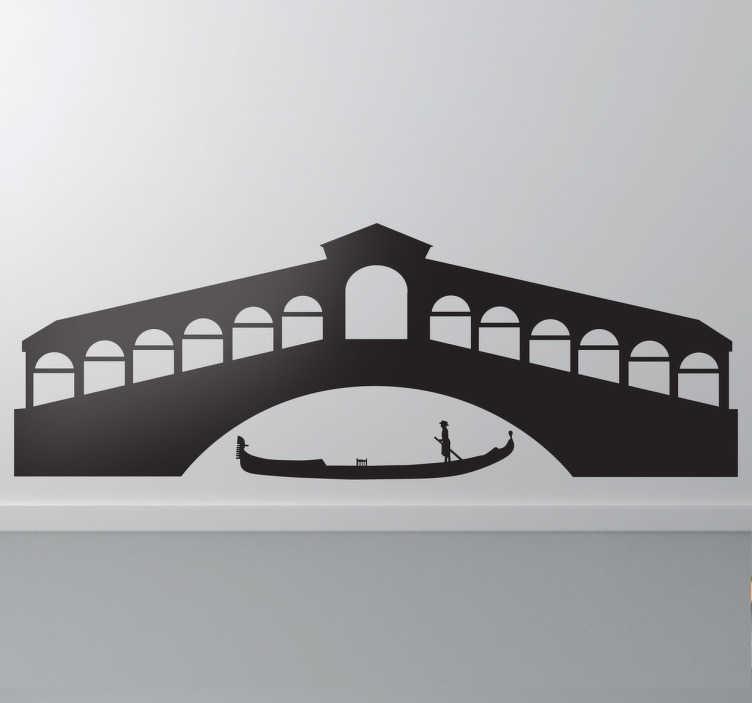 TenStickers. Venedig Wandtattoo. Wandtattoo - Inspiriert von der bezaubernden, italienischen Stadt Venedig.