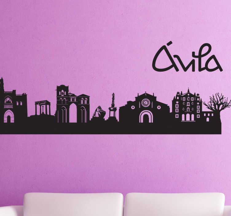 Vinilo decorativo silueta ciudad Ávila