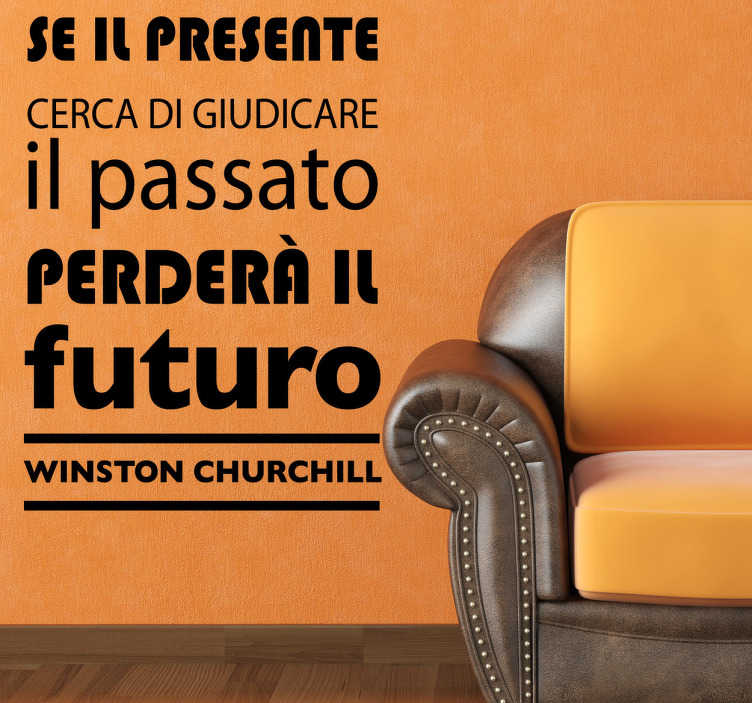 Sticker decorativo frase Churchill