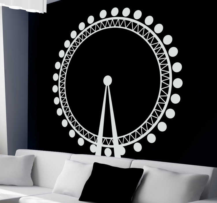 TenStickers. London Eye Silhouette Decal. Decals - Vector silhouette illustration of the London Eye also known as the Millennium Wheel. Available in various sizes and in 50 colours.