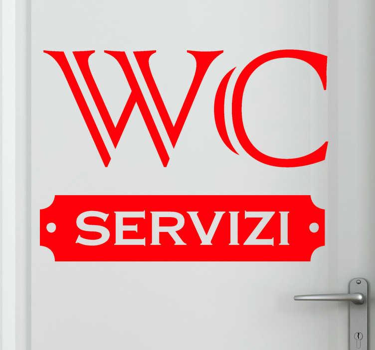 TenStickers. Sticker decorativo targhetta WC. Ecco un pratico adesivo murale con il quale potrai far sapere a tutti dove si trova il bagno