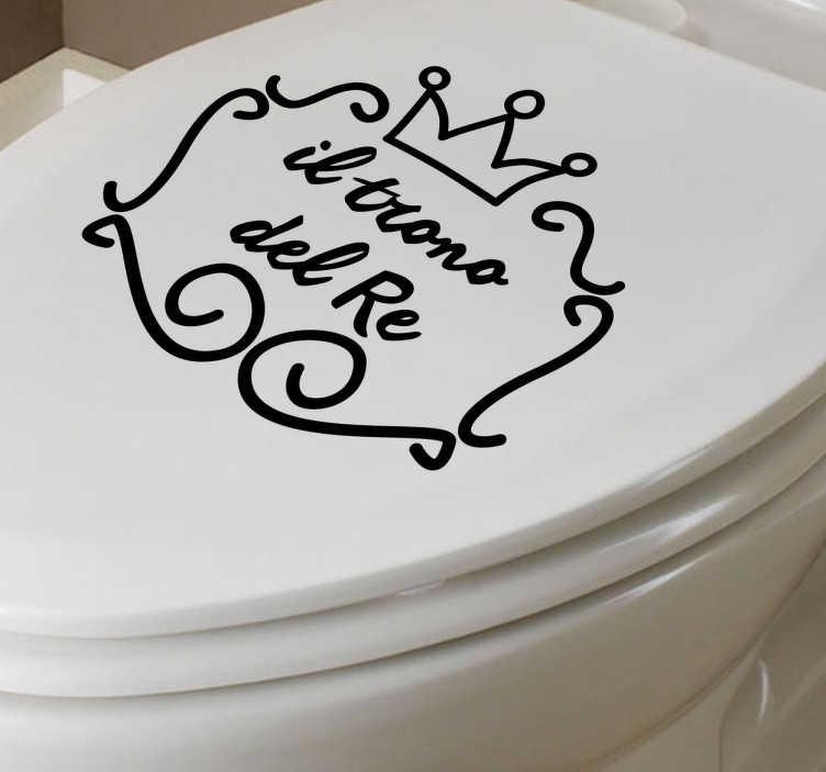 Sticker decorativo trono del re