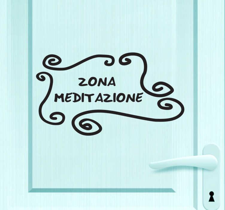 Sticker decorativo zona meditazione