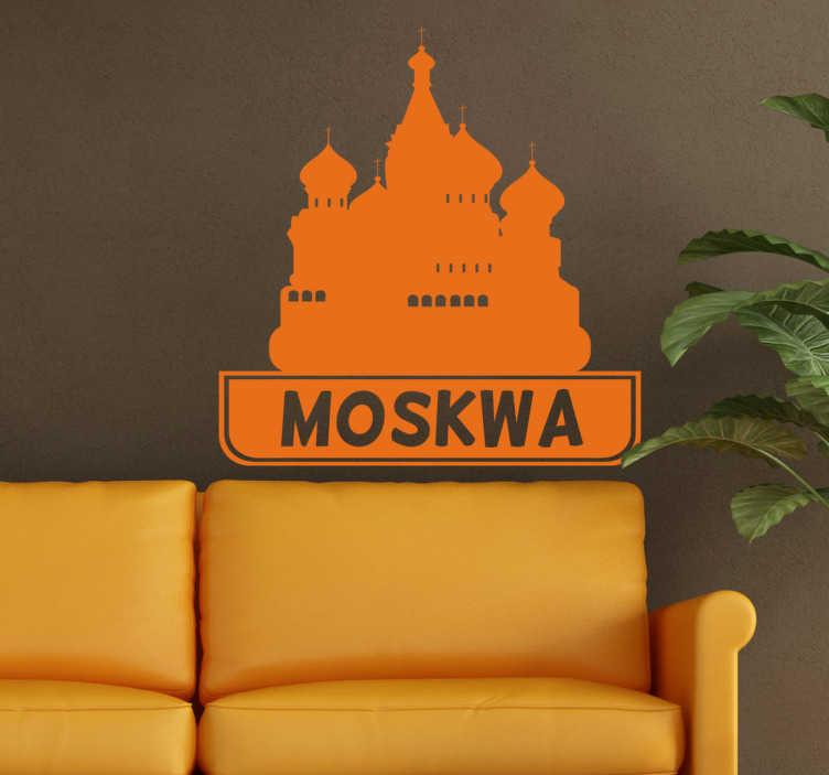 Naklejka dekoracyjna miasta Moskwa