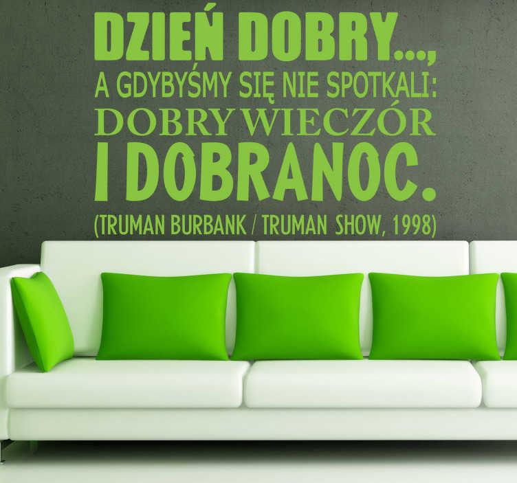 Naklejka cytat Truman Show
