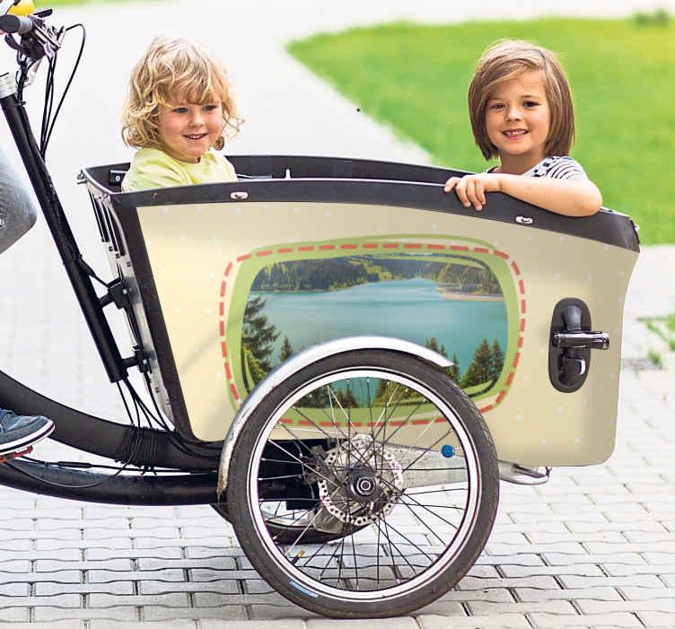 Image of Adesivo bici Foto personalizzata per bici da carico