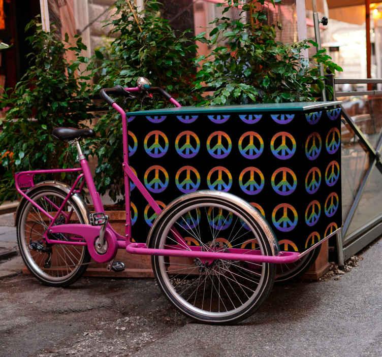 Image of Adesivo bici Design della pace per bici da carico