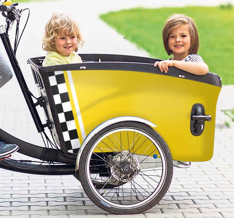 Image of Adesivo bici Taxi per bambini per bici da carico