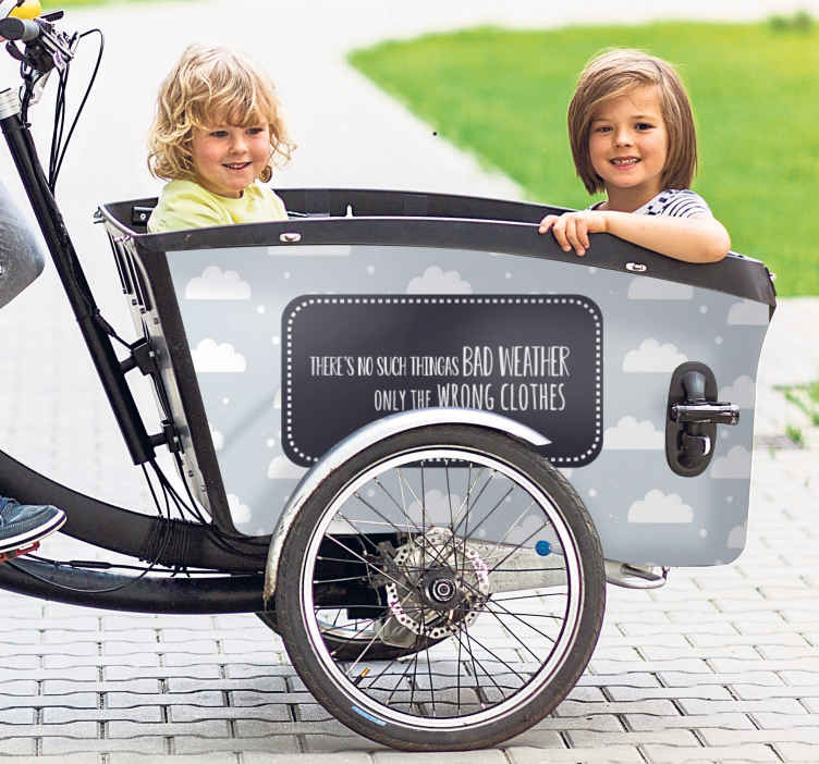 Image of Adesivo bici Preventivo maltempo per bici da carico