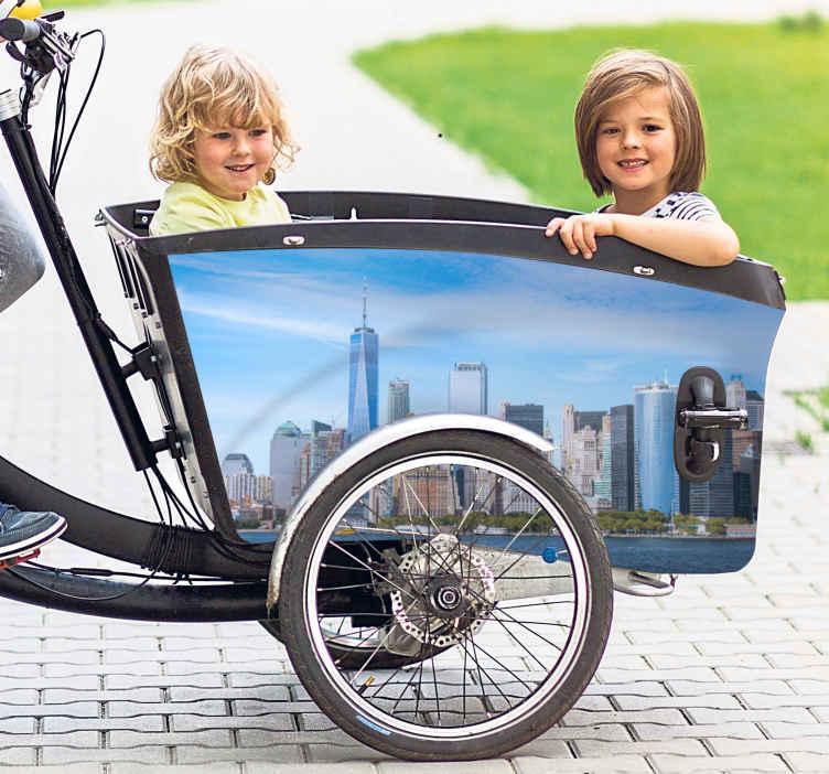 Image of Adesivo bici Linea del cielo di new york per bici da carico