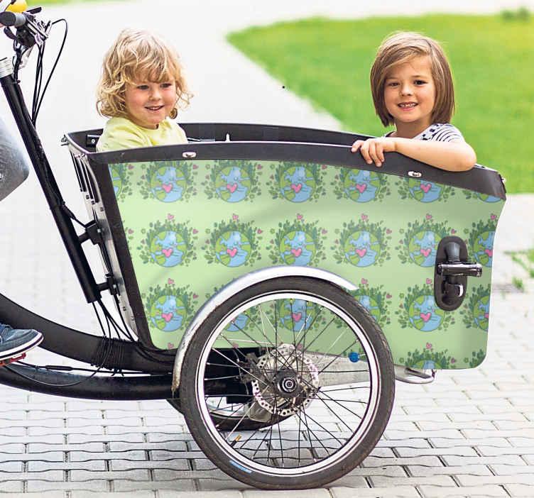 Image of Adesivo bici Abbraccia la terra per la bici da carico