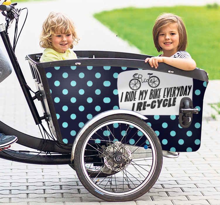 Image of Adesivo bici Riciclo preventivo per bici da carico