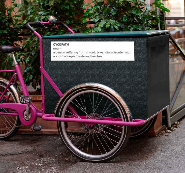 Image of Adesivo bici Preventivo cycopath per bici da carico