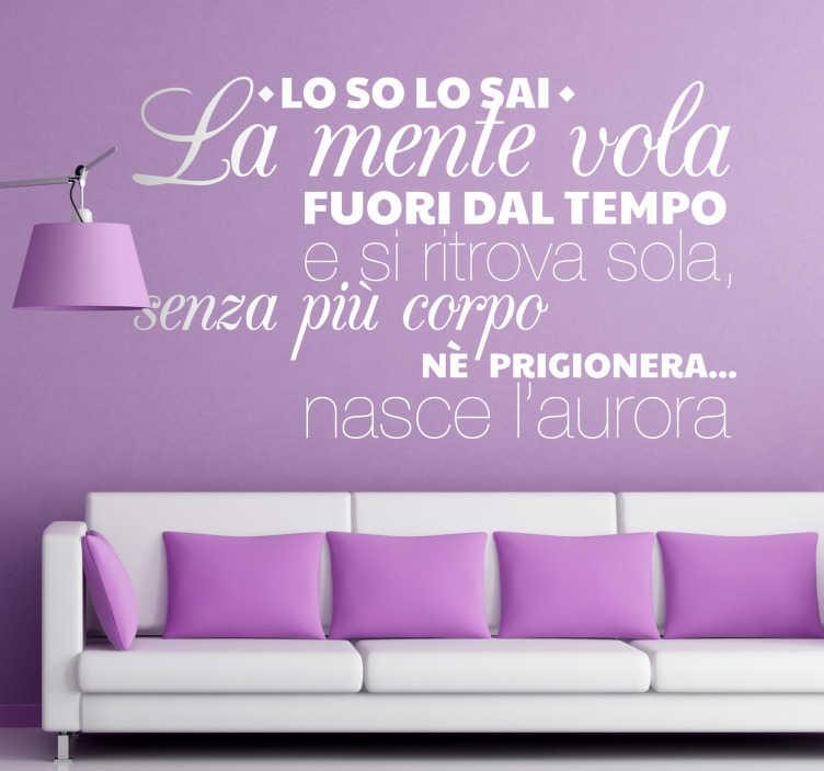 Vinilo decorativo letra Antonello Venditti