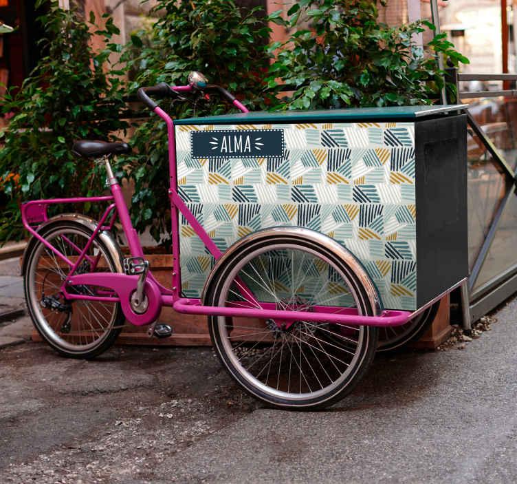 Image of Adesivo bici Etichetta con nome personalizzata per bici da carico