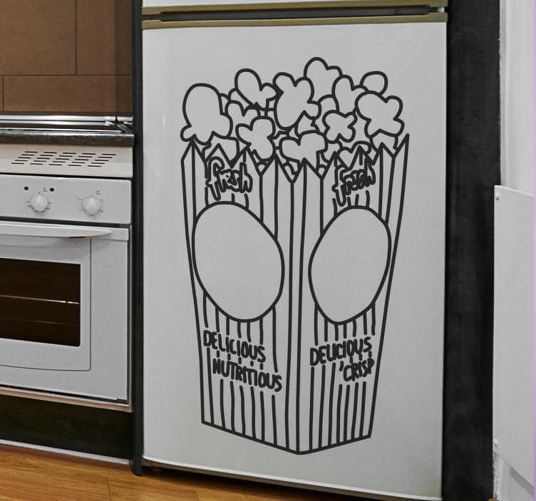 TenStickers. Pop Corn Bag Decal. Wall Stickers - Decals - Illustration of a bag of delicious popcorn.
