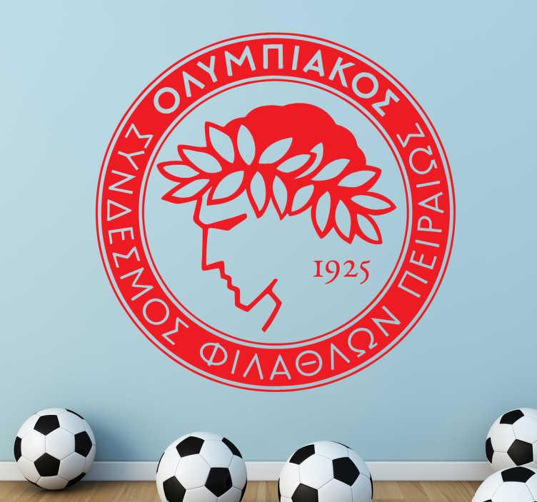 TenVinilo. Vinilo logo olympiakos. Vinilo decorativo de uno de los equipos de fútbol más importante de grecia. Dota tu hogar de personalidad con el escudo del Olimpiakos si eres fan del fútbol y seguidor de este equipo. Muestra lo orgulloso que estás de tu club.