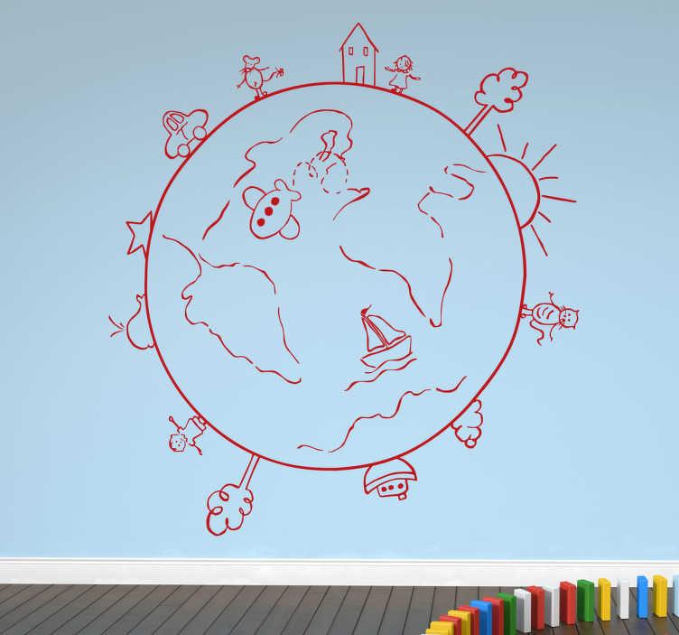 Wall sticker globo