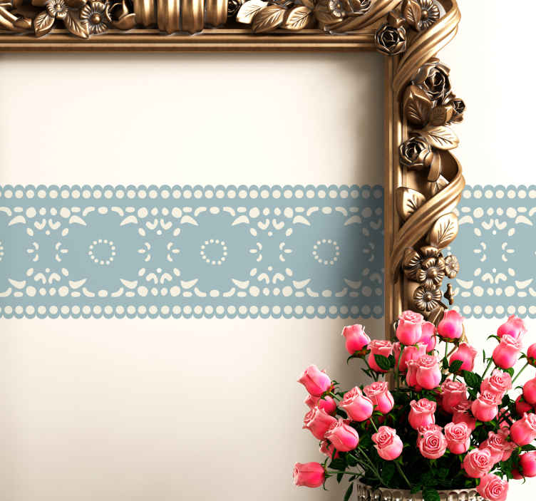 Greca adesiva fantasia floreale tenstickers for Greca adesiva bambini