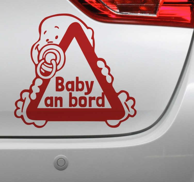TenStickers. Autoaufkleber Kleinkind im Auto. Suchen Sie eine Verzierung für Ihr Familienauto? Dann ist dieser Autoaufkleber genau wie für Sie gemacht.