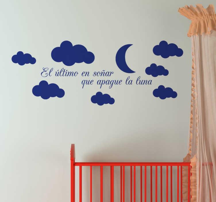 TenVinilo. Vinilo decorativo apagar la luna. Vinilo decorativo ideal para la habitación de tus hijos con las que acompañar sus sueños.