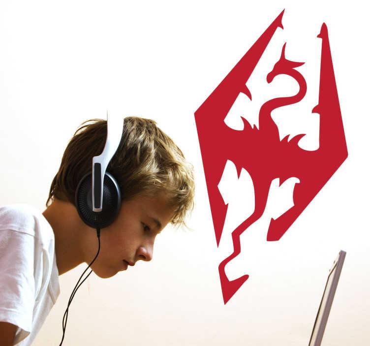 Naklejka logo Skyrim