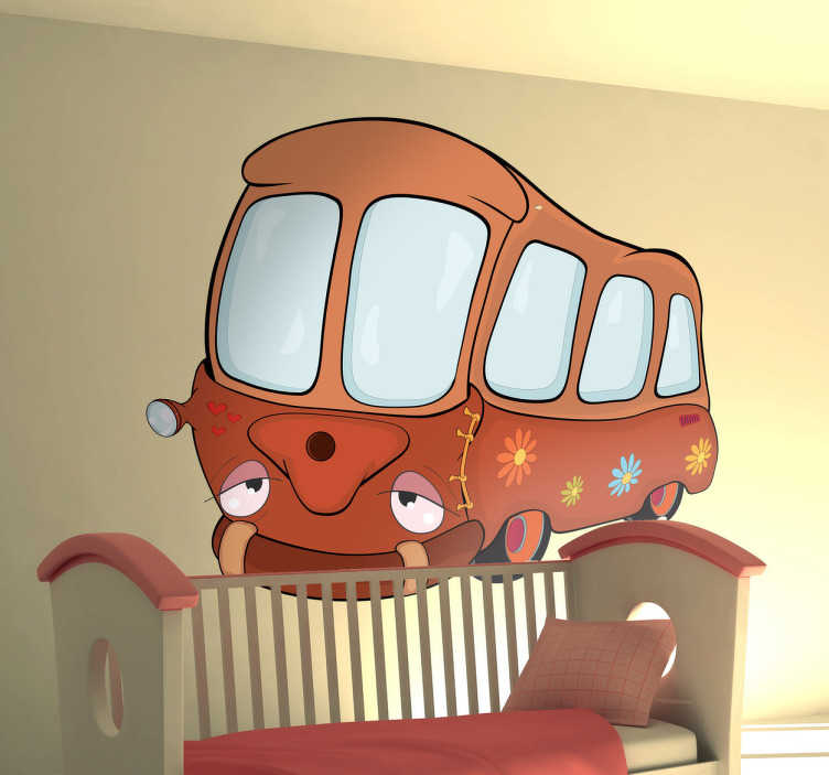 Sticker enfant bus scolaire