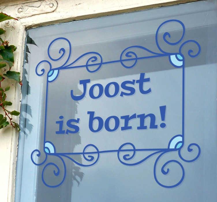 TenStickers. Naklejka narodziny dziecka. Obwieść wszystkim, że jesteś szczęśliwym  ojcem lub szczęśliwą matką nowo narodzonego dziecka!