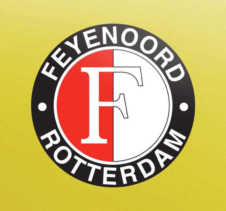 TenStickers. Sticker logo Feyenoord Rotterdam. Ben jij een echte supporter van Feyenoord Rotterdam? Decoreer dan nu met behulp van Tenstickers je auto, motor,of ramen met deze decoratie sticker.
