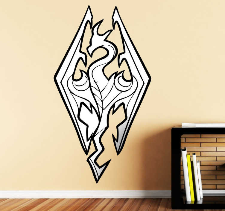 Vinilo decorativo logo Skyrim