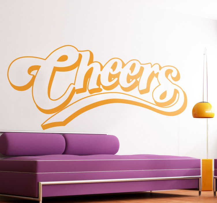 Sticker logo cheers couleur