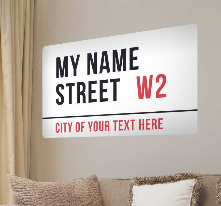 Pegatina personalizable London street plate